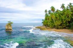 Wild beach Manzanillo in Costa Rica Stock Photo