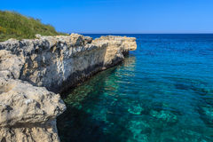 Wild beach. Near the city of Otranto. Puglia. Italy Stock Photos