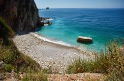 Wild beach. Near the town of Petrovac, Montenegro Stock Photos