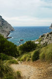 Wild beach in palma de mallorca Royalty Free Stock Images