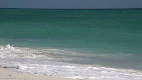 Wild Beach (Playa Los Cocos) Caribbean. Cuba. stock video