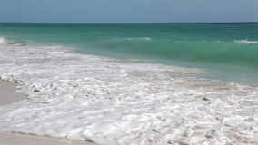 Wild Beach (Playa Los Cocos) Caribbean. Surf on the island of Cayo Largo. Royalty Free Stock Images