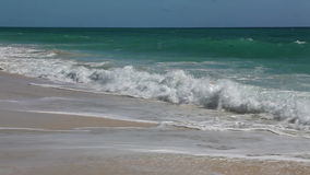 Wild Beach (Playa Los Cocos) Caribbean. Surf on the island of Cayo Largo. stock video