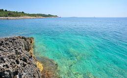 Wild beach. In Pula, Croatia, Europe Stock Images
