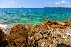 Wild beach in Pula. Croatia, Europe Royalty Free Stock Photography