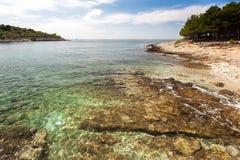 Wild beach in Pula, Croatia Royalty Free Stock Image