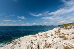 Wild beach in Pula, Croatia Stock Images