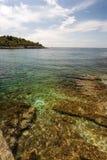 Wild beach in Pula, Croatia Royalty Free Stock Photos