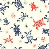 Wild beach. seamless pattern Stock Photography