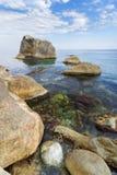 Wild beach stone Royalty Free Stock Photography