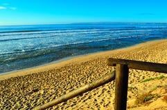 Wild beach sunrise Stock Photography