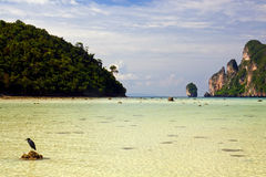 Wild beach in Thailand Royalty Free Stock Photos