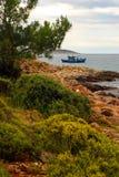 Wild Beach Thassos, Greece Royalty Free Stock Photo