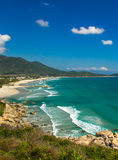Wild beach view. Wild beach in Vietnam. View from the mountain Royalty Free Stock Photo