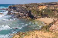 Wild beach,  Vila Nova de Milfontes. Alentejo, Portugal Stock Photo