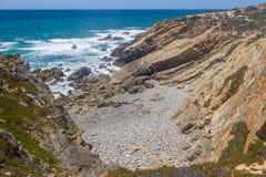 Wild beach,  Vila Nova de Milfontes. Alentejo, Portugal Stock Photos