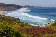 Wild beaches in La Coruña Royalty Free Stock Photography
