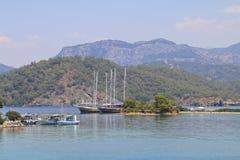 Wild beaches of the Mediterranean. Stock Image