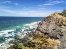 Wild beaches on western part of Algarve, Portugal Royalty Free Stock Images