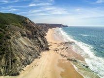 Wild beaches on western part of Algarve, Portugal Royalty Free Stock Photos