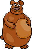 Wild bear cartoon illustration Royalty Free Stock Image