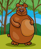 Wild bear cartoon illustration Stock Image