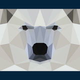 Wild bear stares forward. Nature and animals life theme background. Abstract geometric polygonal triangle illustration Royalty Free Stock Photography