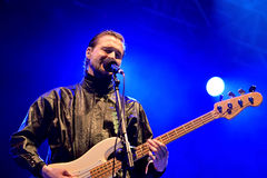 Wild Beasts (band) performs at MBC Fest. VALENCIA, SPAIN - APR 4: Wild Beasts (band) performs at MBC Fest on April 4, 2015 in Valencia, Spain Royalty Free Stock Photos