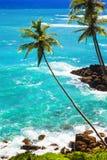 Wild beautiful beaches of Sri Lanka, Weligama,south of island. stock photos