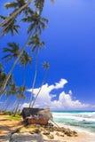 beautiful beaches of Sri Lanka, Weligama, south of island stock photos
