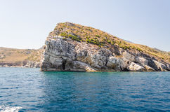 Wild Beautiful Coastline at the Zingaro Natural Reserve, Sicily Royalty Free Stock Photos