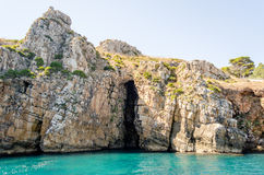 Wild Beautiful Coastline at the Zingaro Natural Reserve, Sicily Stock Image