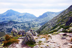 Wild and beautiful Retezat mountains. View of wild and beautiful Retezat mountains Royalty Free Stock Image