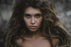 Wild beautiful woman Stock Photos