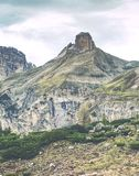 Wild beauty of Dolomites - Torre Toblin mountain royalty free stock photo