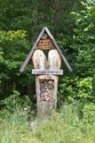Wild bee hotel Stock Photos