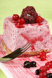 Wild berries bavarian cream (bavarese) Royalty Free Stock Photo