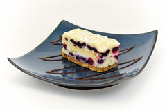 Wild Berry Layered Dessert Creme Cake Sweets White Stock Images