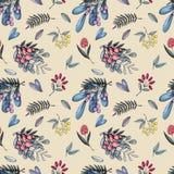 Wild berry pattern stock illustration