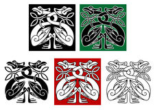 Wild birds in celtic ornament style Royalty Free Stock Photos