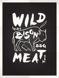 Wild bison meat Stock Photo
