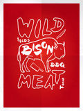 Wild bison meat Royalty Free Stock Photos