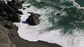 Wild black beach stock video