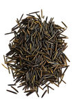 Wild black long grain rice Stock Photo