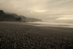 Wild blacksanded beach Royalty Free Stock Photography