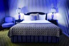 Wild Blue Bedroom Stock Images