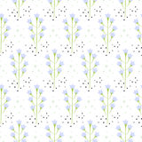 Wild bluebell flower spring field seamless pattern. Wild pastel bluebell flower spring field seamless pattern. Floral tender fine summer vector pattern on white Stock Photos