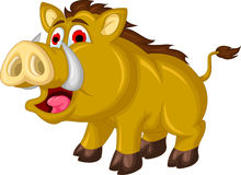 Wild boar cartoon Royalty Free Stock Photography