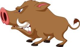 Wild boar cartoon Royalty Free Stock Photo