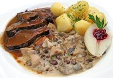 Wild boar dish stock photo